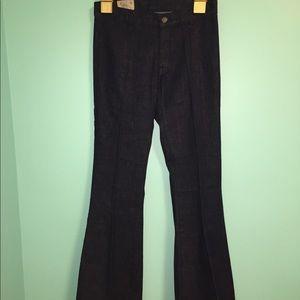 NWOT Ralph Lauren Polo denim flared trousers.